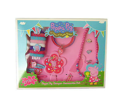 Peppa Pig Anniversary Hair Jewellery Set Clips Rings Necklace Bangles Official