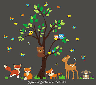 Nature Wall Decals - Forest Wall Stickers - Nursery Stickers - Baby Room Prints