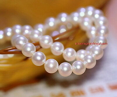 """Australia Top luster 35""""10-11mm round REAL south sea white pearl necklace 14K"""