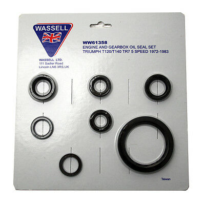 GS61358 - OIL SEAL KIT - Triumph for T120, T140, TR7 5 Speed model.