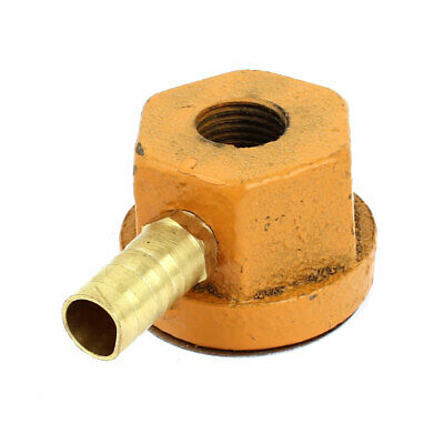 Single Outlet 12mm Thread Dia Magnetic Coolant Base Pipe Stand Holder Orange