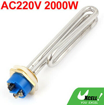 AC220V 2000W Metal Electric Heating Tube Water Heater Element Silver Tone