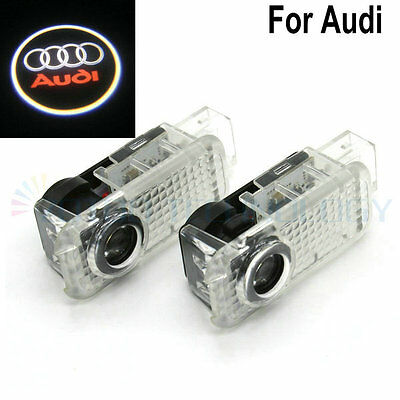 2 X LED Car door Led Welcome laser projector Logo Ghost Shadow Light For Audi