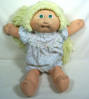 Vintage 1982 Cabbage Patch Kids Doll w/ Blue Eyes - Blonde Long Hair