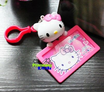 New Cute Hello Kitty ID Credit Card ID Card Holder Room Card c/w Hook Pink