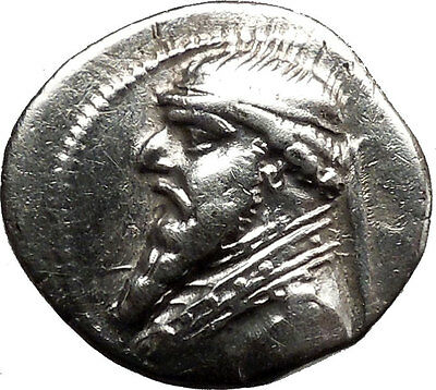 """MITHRADATES II the GREAT 120BC Ancient Silver Parthian """"Greek"""" Coin Nice i36770"""