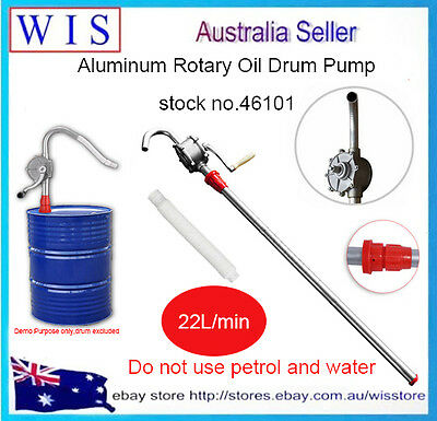 Aluminium Rotary Drum Pump Heavy Duty Oil 44 Gallon /205L Drum Barrel Hand Pump