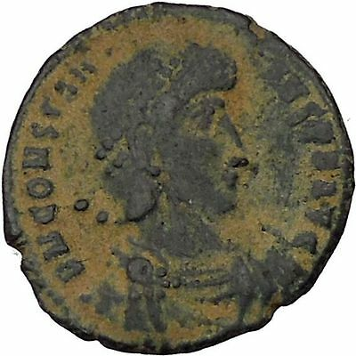 CONSTANTIUS II Constantine the Great son Ancient Roman Coin Battle Horse i45902