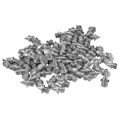 "BAG OF 100 TRACK AND FIELD SPIKES 1/4"" PYRAMID MF Shoes BULK  100 Inch & Quarter"