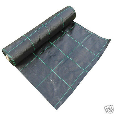 1m x 50m HEAVY DUTY WOVEN Weed Control Fabric Landscape Ground Membrane 100gsm