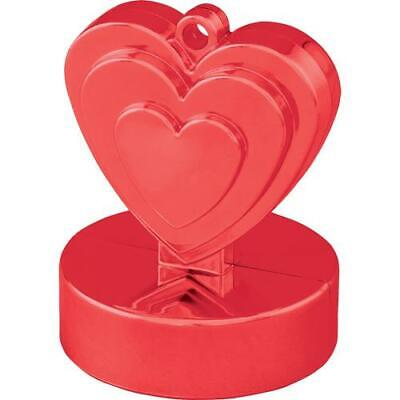 12 x Red Heart Shaped Solid Balloon Weight 110g