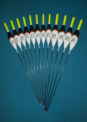 *BARGAIN* 12 x Assorted High Quality Pole Fishing Floats (Pack 303Y12)
