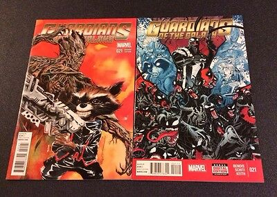 Guardians Of The Galaxy GOTG 21 Variant Marvel Comic Book Groot Rocket Racoon