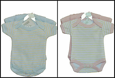 Small/Premature baby vests - 2 Piece Stripe + Plain Vests 3-5lb 5-8lb