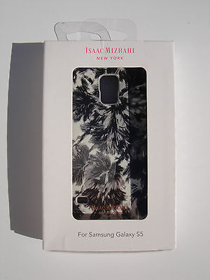 ISAAC MIZRAHI New York Designer Case Samsung Galaxy S 5 S5 Black/White CO8912