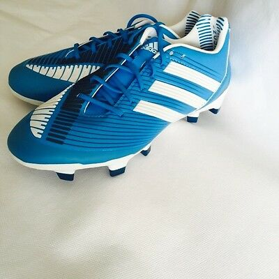 NEW adidas BOYS Predator Incurza TR FirmGround Rugby Boot BlueWhite US Size 5. 5