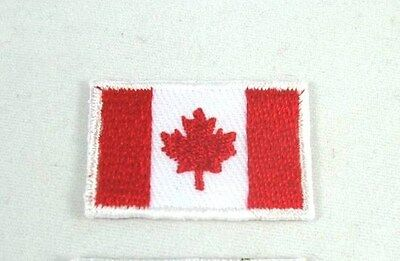 Canada 2X3 Cm Embroidered Country National Flag Sewing Iron-On Patch Free Ship