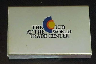 The Club At The World Trade Center Match Box