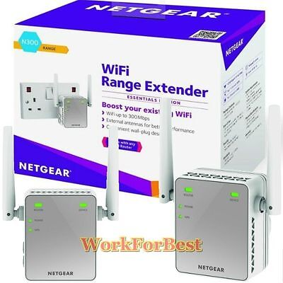 Wifi Booster Repeater 300Mbps Signal Wi-Fi Range Extender Wireless Netgear NEW