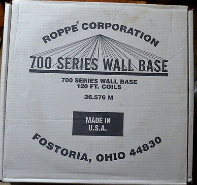 Box of 120' of 700 Series Roppe Wall Base Lunar Dust 1/8 4 Coil New