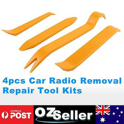 4pcs Car Removal Plastic Pry Tools Kit Door Trim Dash Panel Stereo Radio Set OZ