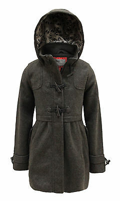 Girls Kids Children New Quilted Check Bomber Padded Duffle Jacket Coat Hooded