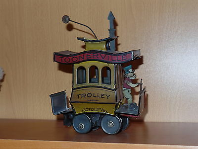 Nice Antique Tin Wind-up Toonerville Trolley from 1922 (no reserve!)