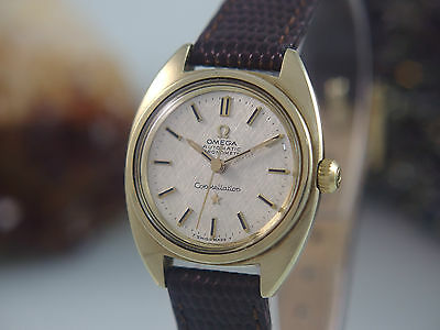 Omega Constellation Chronometer Automatik Stahl / Gold Damenuhr