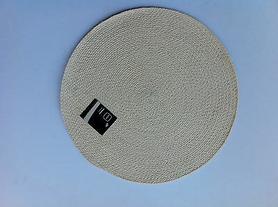 Cream Braided Round Placemat - 38cm round