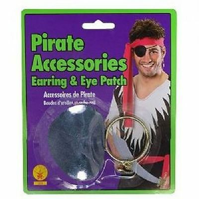 Rubies Pirate Pack Earing & Eyepatch