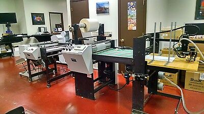 D & K Laminator Acculam 2760 with feeder & cutter.