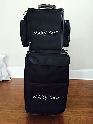 Mary Kay Rolling Suitcase - 2 piece set with multiple inserts