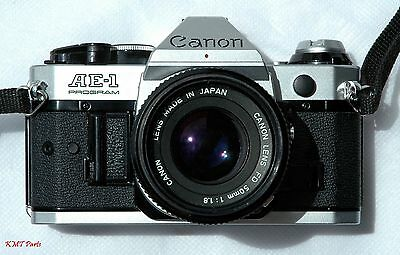 Canon AE-1 Program 35mm Camera with 50mm f/1.8 Lens Very Good Conditions