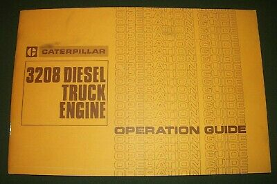 Cat Caterpillar 3208 Truck Engine Operation Manual Book Guide