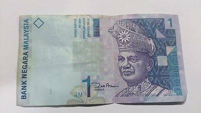 1 RM 1 Ringgit Malaysia Money Banknote Collecting
