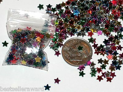 1 bag of Rainbow Fairy STARS for glass bottle vials dime size bag*~NEW