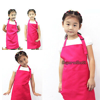 Colorful Protect Kids Children Kitchen Baking Painting Apron Art Cooking Craft