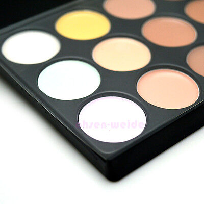 15 Colors Face Cream Makeup Palette Salon Party Concealer Contour Professional