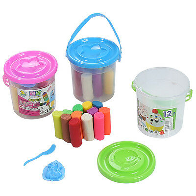 15 Pcs New Kids Play Dough Doh Clay Modeling Cutter Tool Toy Plasticine Set