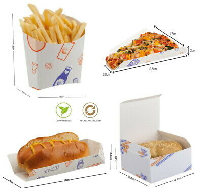 Supa Snax Meal Food Trays - Fast Food Takeaway Boxes - Chips Hot Dog Chicken