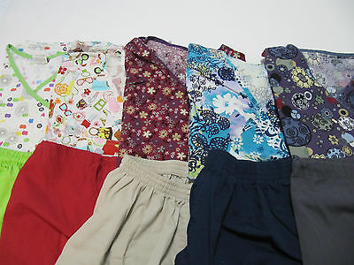 Womans Lot Of Scrub Sets, 5 Tops, 5 Pants, Very Nice    Size Xs  (Box197)
