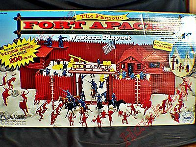 Marx Fort Apache Playset Original Box 4502  in Excellent Condition Rare