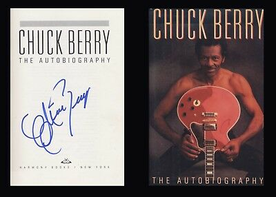 CHUCK BERRY Autographed Signed Book Chuck Berry: The Autobiography Rock and Roll