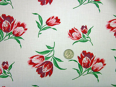 "Feedsack ""NOVELTY""  Vintage ""FLORAL""  100% Cotton Quilt & Sewing Fabric"