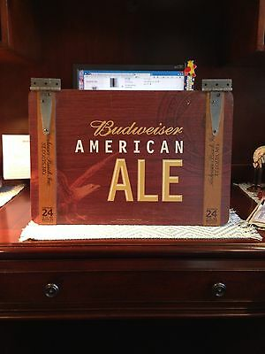 Budweiser American Ale Wooden Wall Beer Sign pub bar 2-sided trunk bud wood