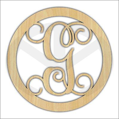 Custom Wooden Initial, Round, Various Sizes, Unfinished, Laser Cut