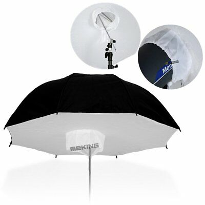 "84cm 33"" Black / Silver Reflective Umbrella Softbox Fr Studio Lighting Flash"