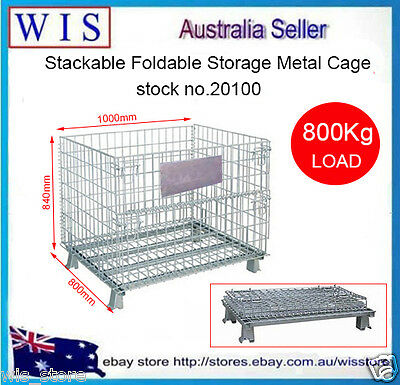Collapsible & Foldable Stillage,Heavy Duty Metal Container,800Kg Load-20100