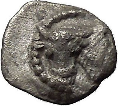 LARISSA in THESSALY 462BC Obol Bull Horse Ancient Silver Greek Coins i46360