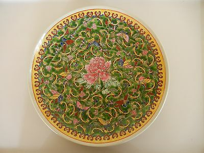 Chinese Large Porcelain Plate, Peony
